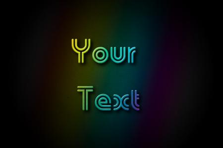 Rainbow shine text