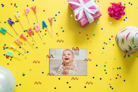 Create online birthday photo frames for kids