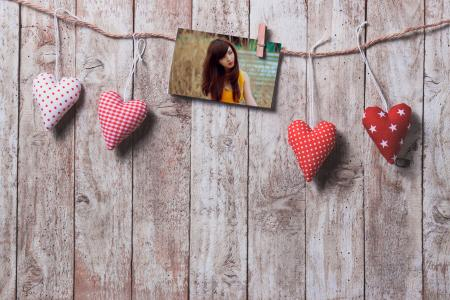 Photo Frame with valentine