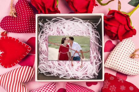 Photo in valentine gift box