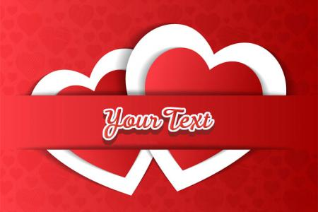 Love text effect