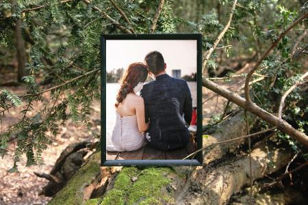 Photo frame in nature