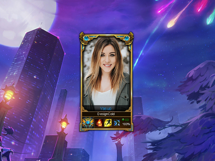 Make lol loading screen with border rank